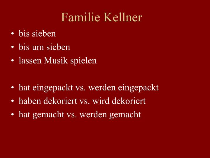 Familie Kellner