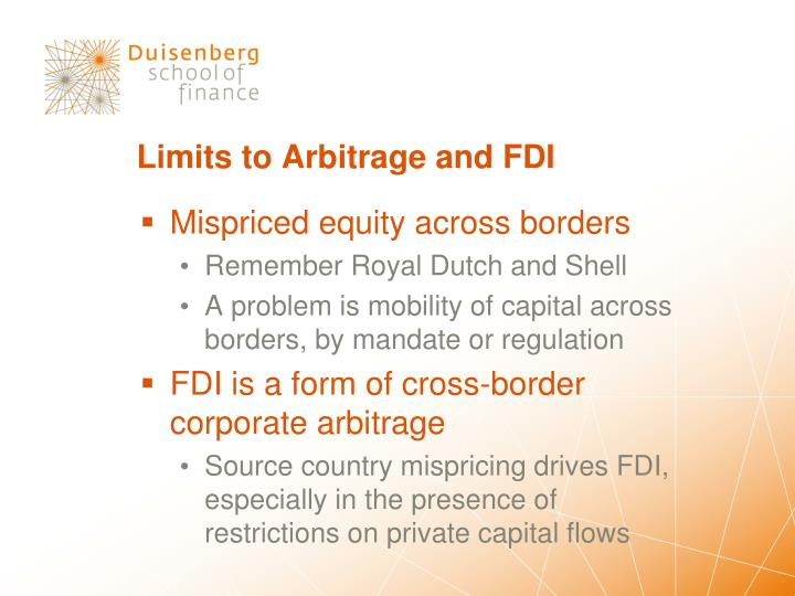 Limits to Arbitrage and FDI