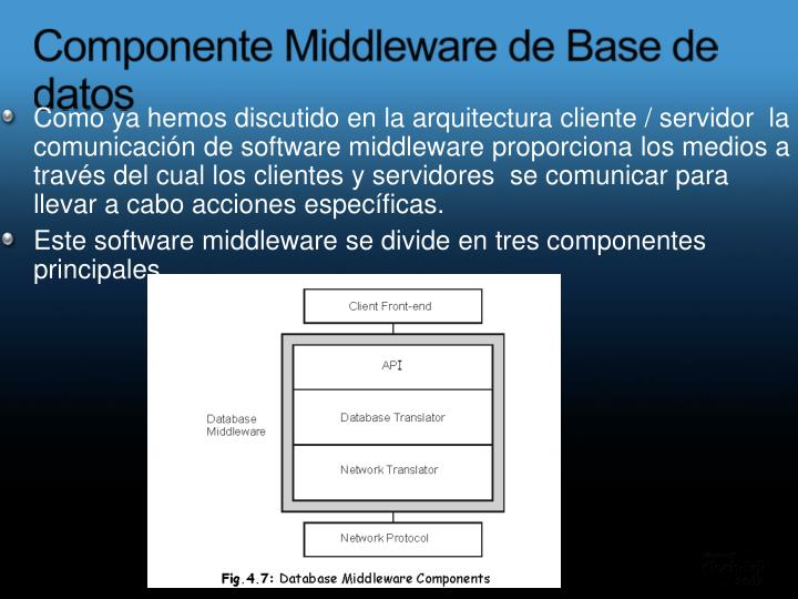 Componente Middleware de Base de datos