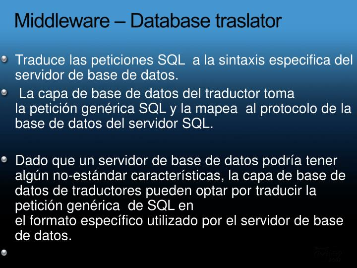 Middleware –