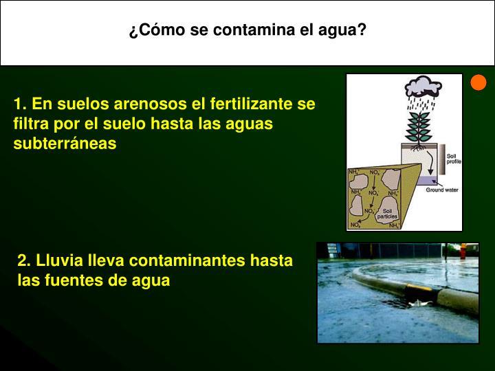 ¿Cómo se contamina el agua?