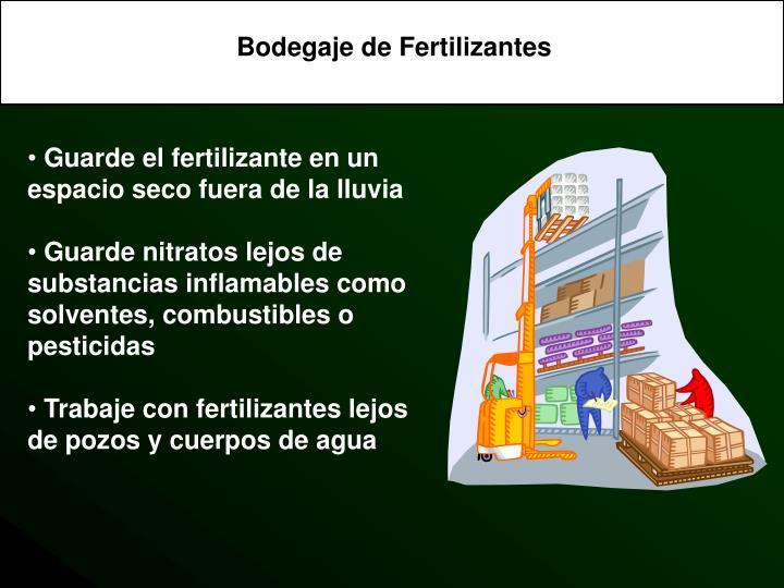Bodegaje de Fertilizantes