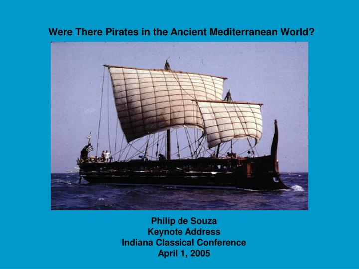 Were There Pirates in the Ancient Mediterranean World?