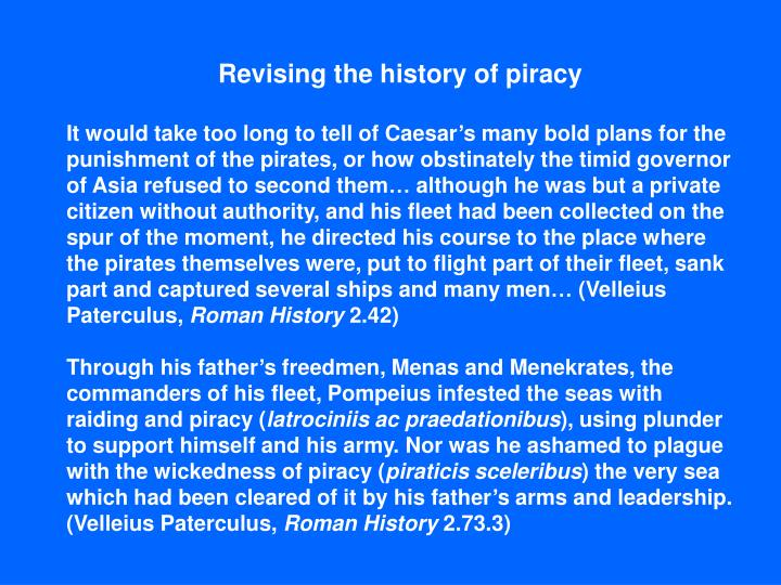Revising the history of piracy