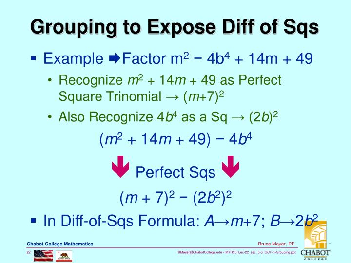 Grouping to Expose Diff of Sqs