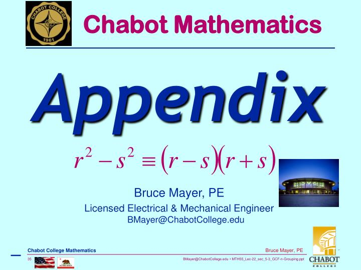 Chabot Mathematics