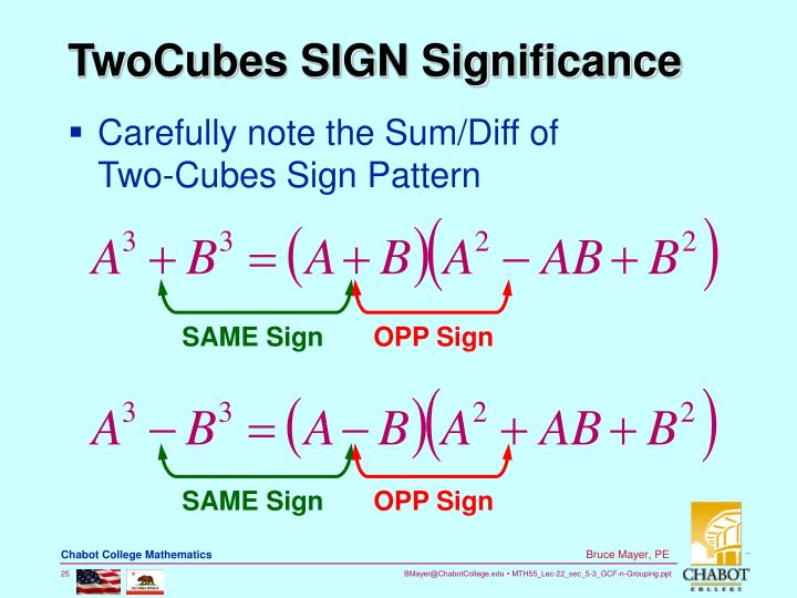 TwoCubes SIGN Significance