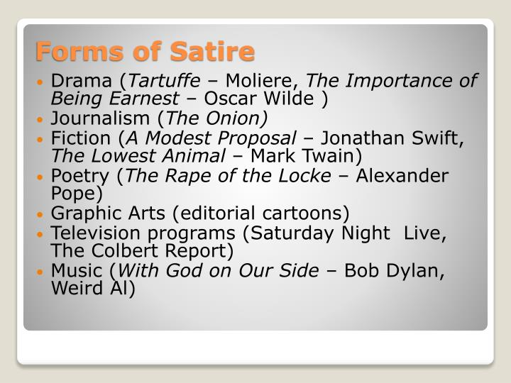 Forms of satire