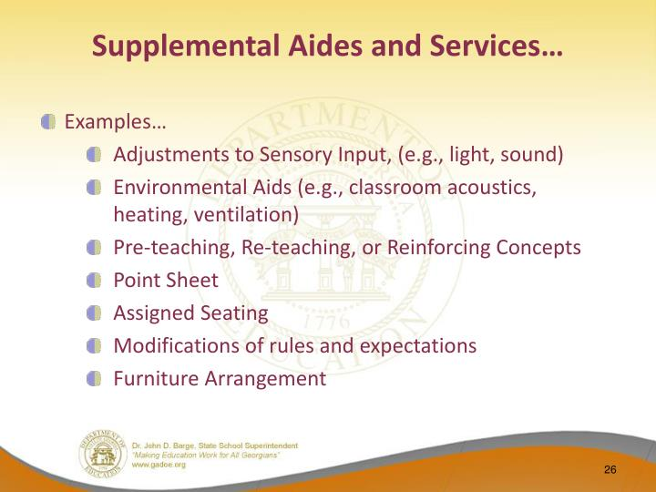 Supplemental Aides and