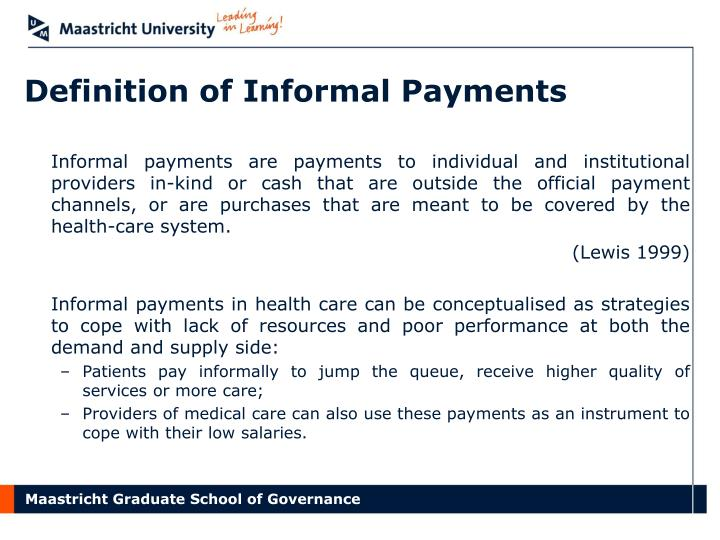 Definition of informal payments