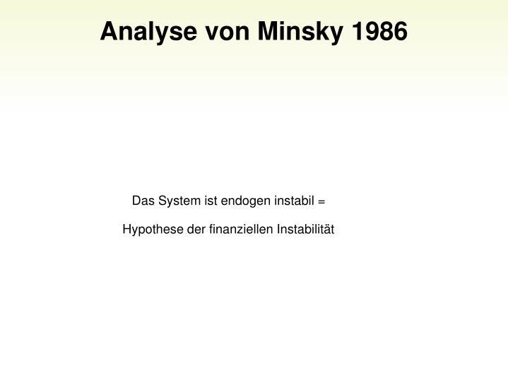 Analyse von Minsky 1986