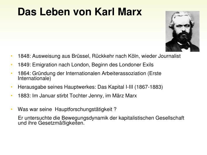 Das Leben von Karl Marx
