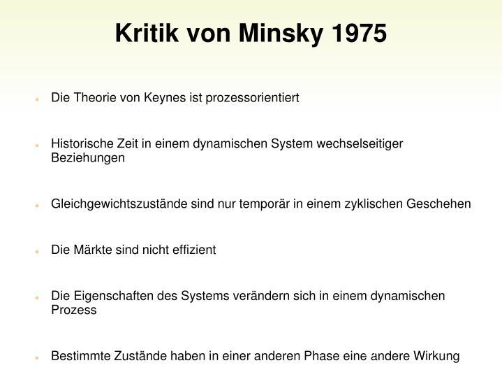 Kritik von Minsky 1975