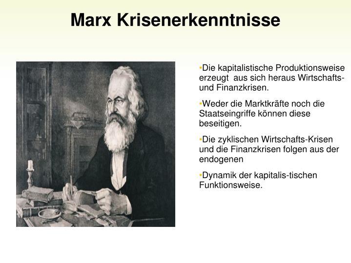 Marx Krisenerkenntnisse