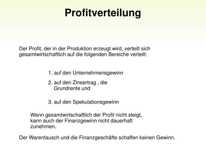 Profitverteilung