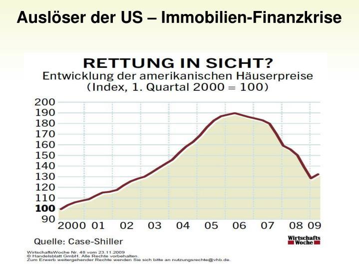 Auslser der US  Immobilien-Finanzkrise