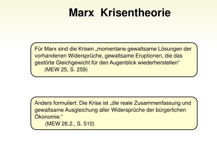 Marx  Krisentheorie