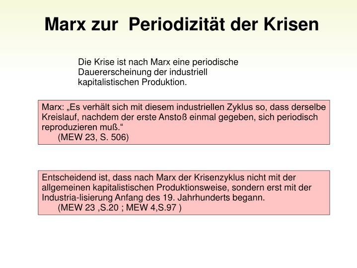 Marx zur  Periodizitt der Krisen