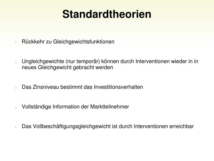 Standardtheorien
