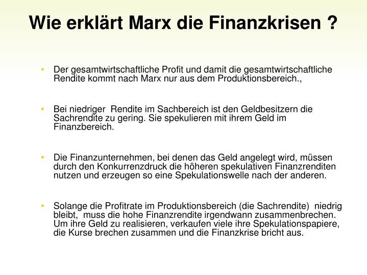 Wie erklrt Marx die Finanzkrisen ?