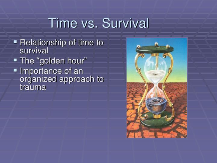 Time vs. Survival