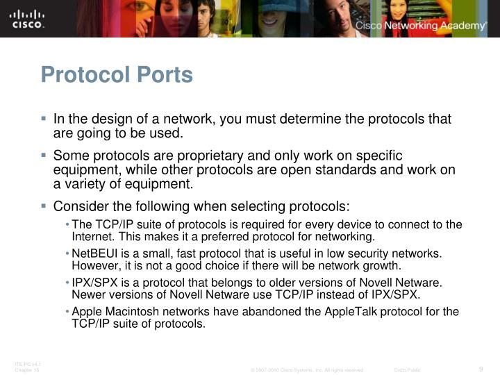Protocol Ports