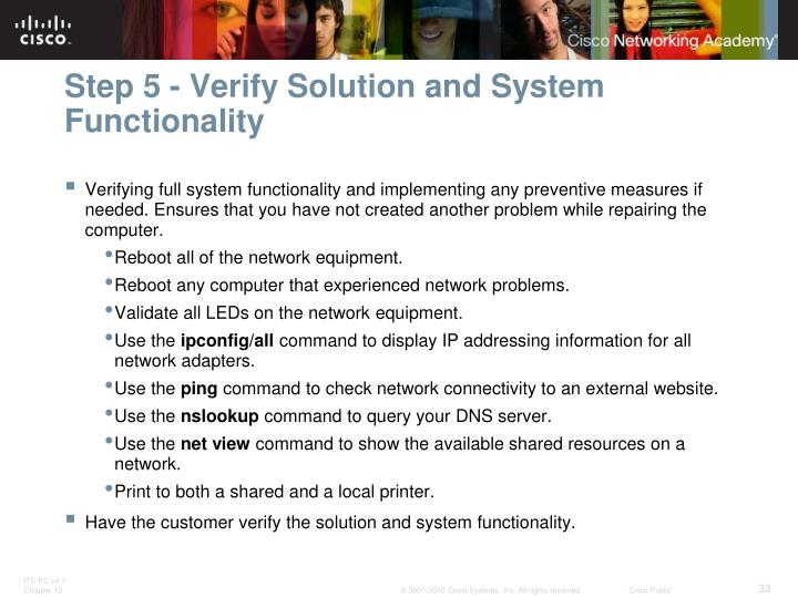 Step 5 - Verify Solution and System Functionality