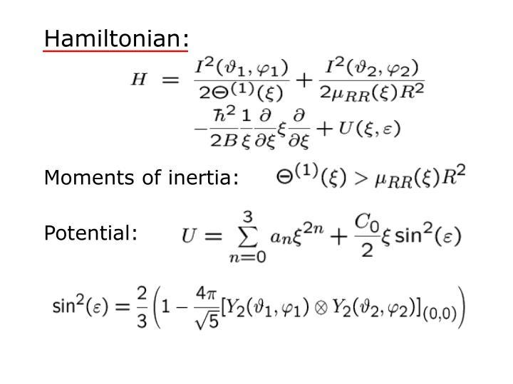 Hamiltonian: