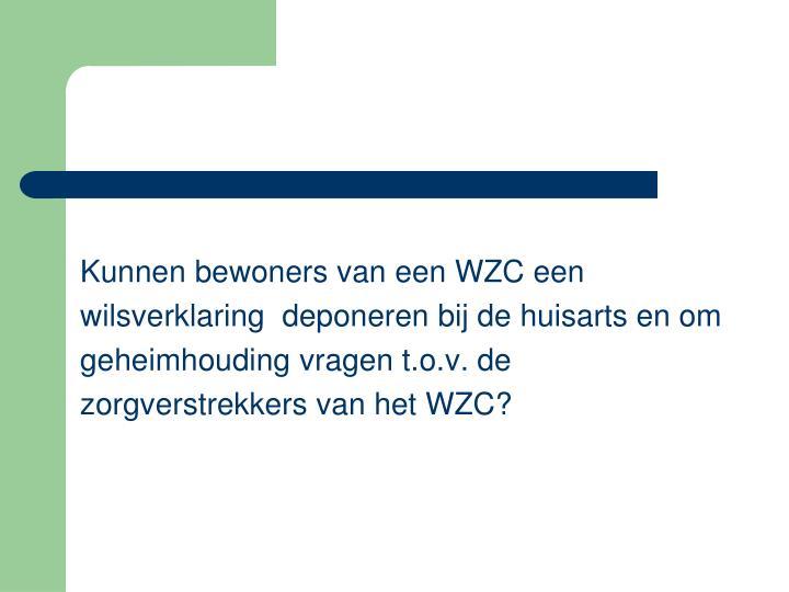Kunnen bewoners van een WZC een