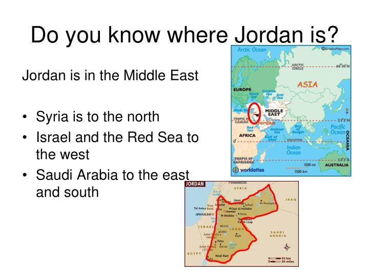 Do you know where Jordan is?