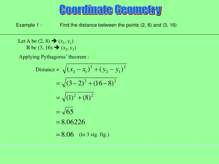 Applying Pythagorus' theorem :