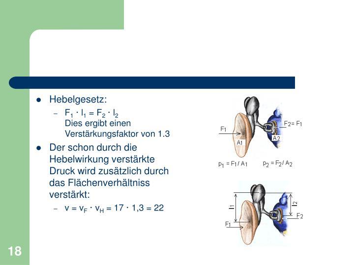 Hebelgesetz: