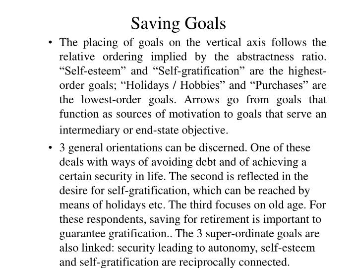 Saving Goals
