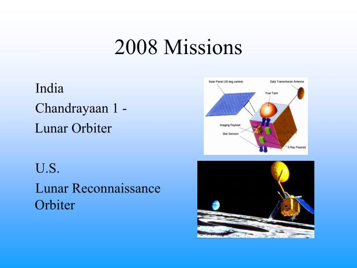 2008 Missions