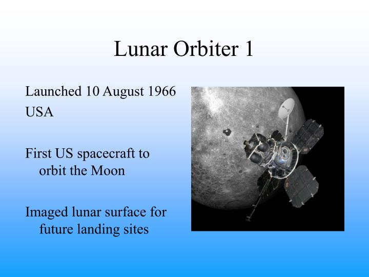 Lunar Orbiter 1