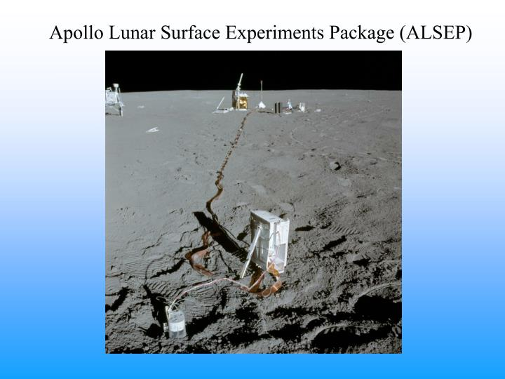 Apollo Lunar Surface Experiments Package (ALSEP)