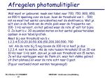 afregelen photomulitiplier2