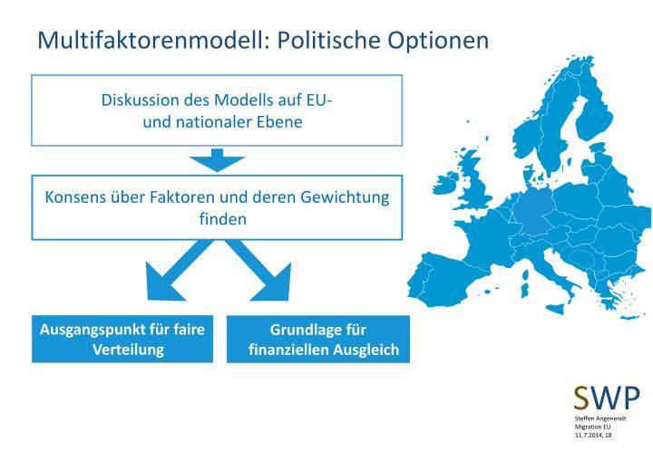 Multifaktorenmodell: Politische Optionen