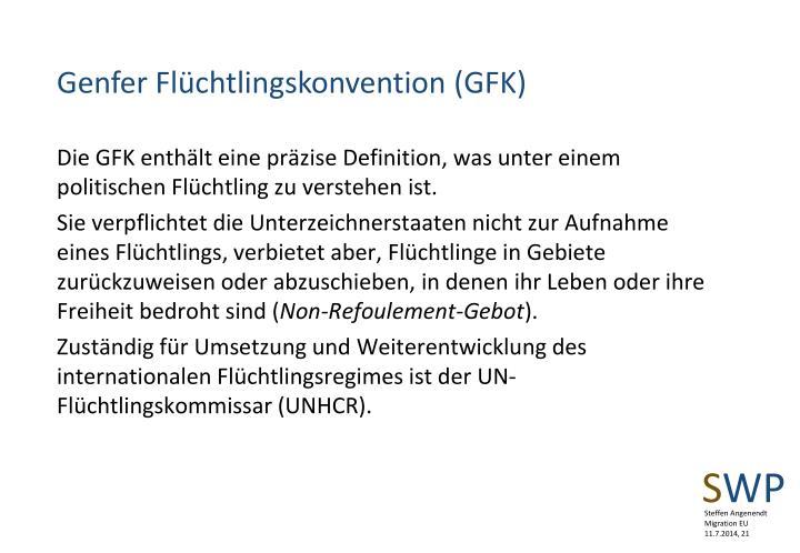 Genfer Flüchtlingskonvention (GFK)