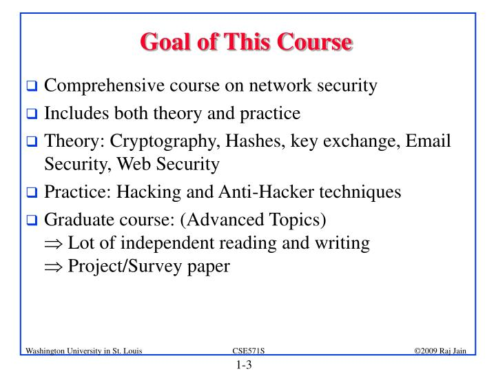 Goal of this course