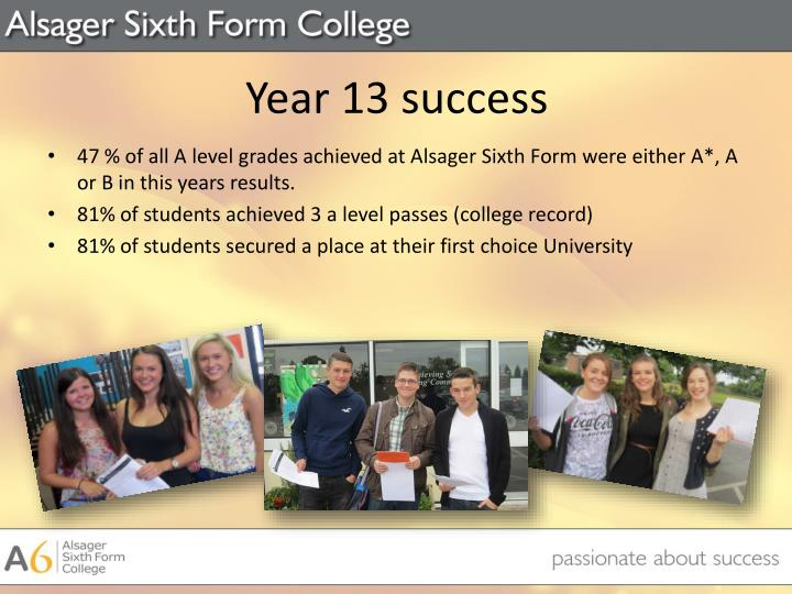 Year 13 success