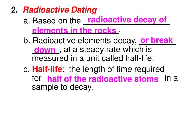 radioactive decay of