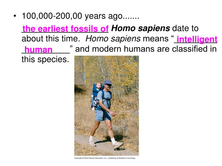 the earliest fossils of