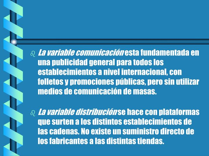 La variable comunicación