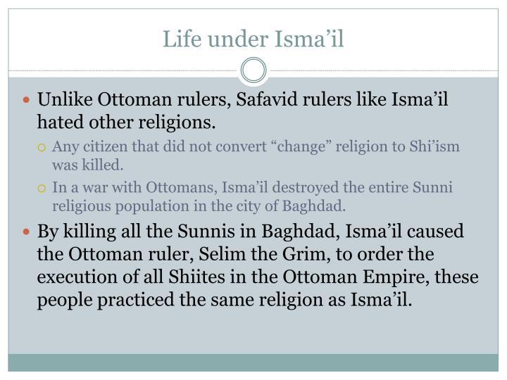 Life under Isma'il