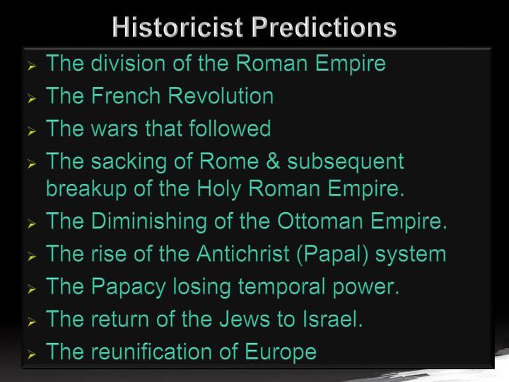 Historicist Predictions