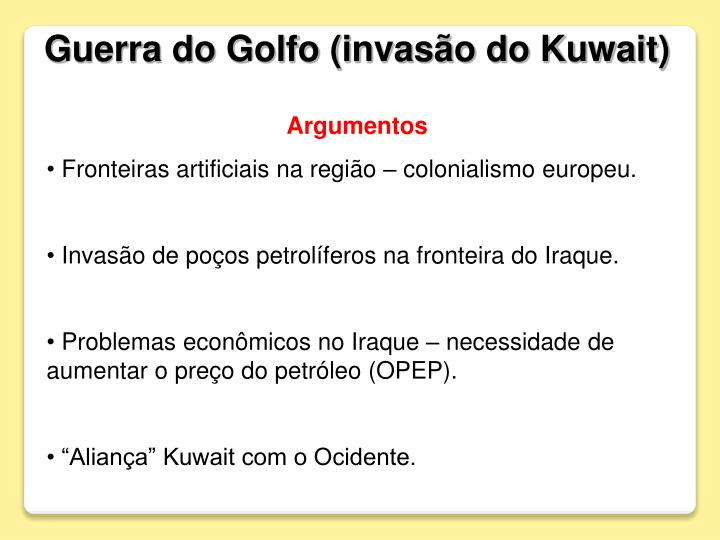 Guerra do Golfo (invasão do Kuwait)