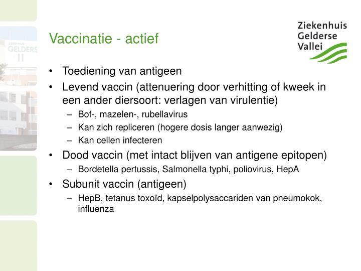 Vaccinatie - actief