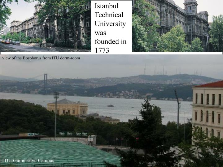Istanbul Technical University was founded in 1773