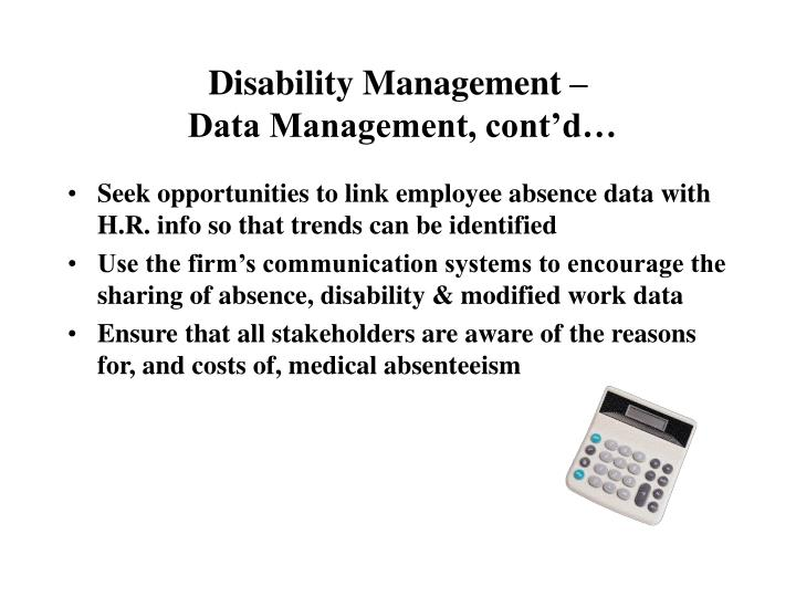 how to develop a disability management program
